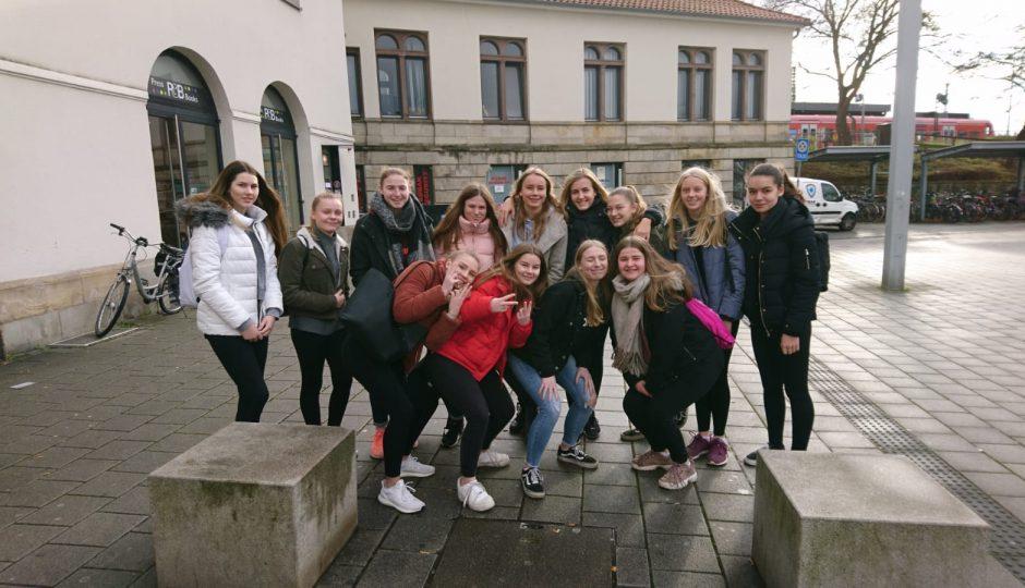 Die w B2-Jugend zu Weihnachten in Hameln